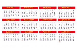 turkey public holiday calendar 2017