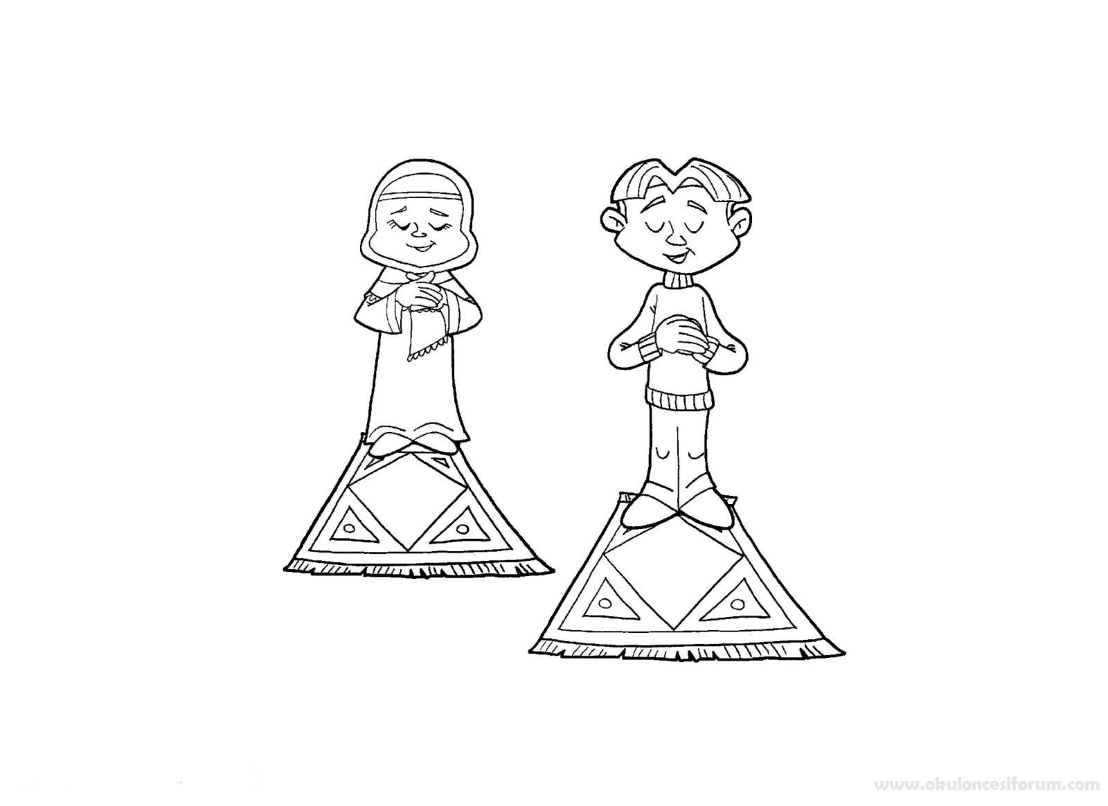 çocuklar Için Ramazan Boyamaları Ve Bulmacaları Okul öncesi