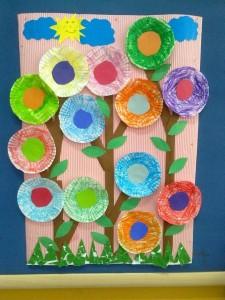 Pasta kalıbından çiçekler projemiz :)