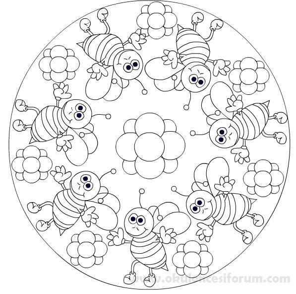 Mandala örnekleri Okul öncesi Etkinlikleri