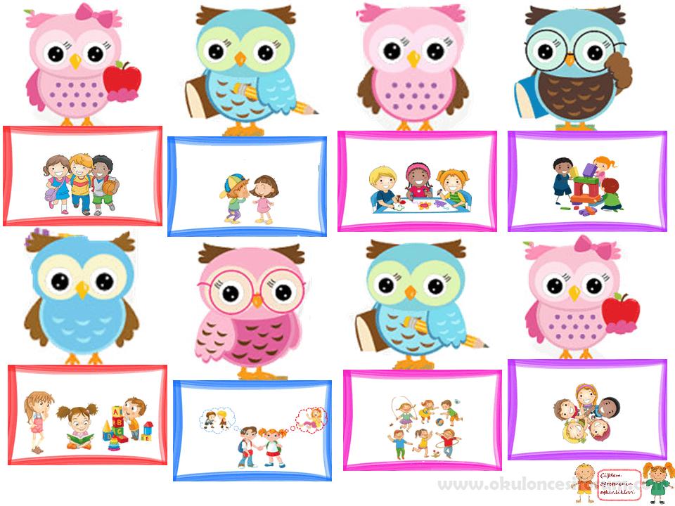 Sevimli Baykuş Sınıf Kuralları Okul öncesi Etkinlikleri