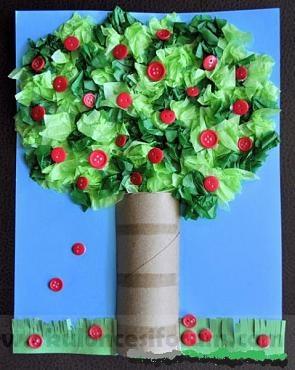 Okul öncesi Artık Materyal çalışmasıyla Ağaç Yapımı Okul öncesi