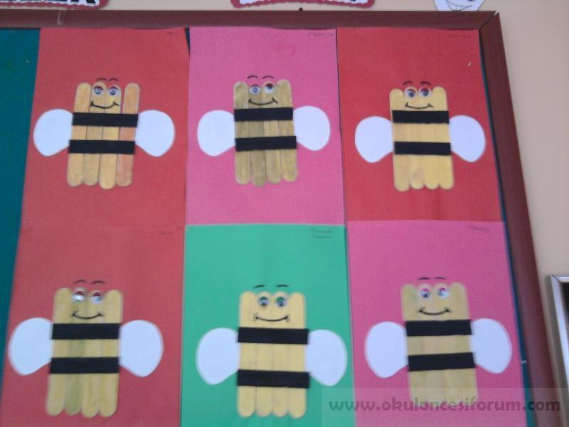 Dil çubuğundan Neşeli Arılar Okul öncesi Etkinlikleri