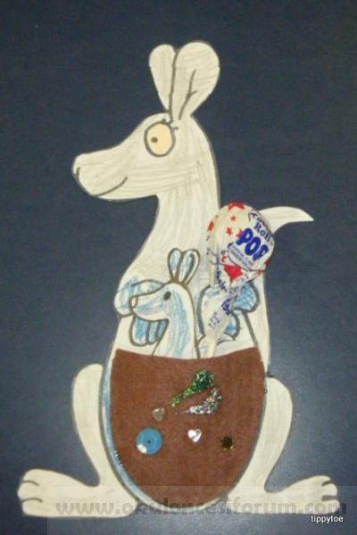 Kanguru Ve Yavrusu Kalipli Okul Oncesi Etkinlikleri