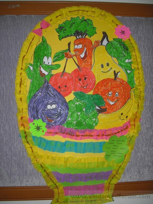 Meyve Sepeti Okul öncesi Etkinlikleri