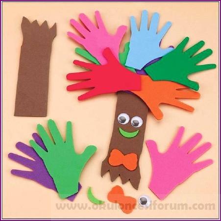 Ellerimizden Ağaç Okul öncesi Etkinlikleri