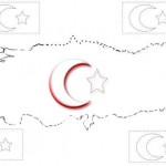 Bayrakli Türkiye Haritasiatatürk Ve Türk Bayraği Boyama Sayfalari