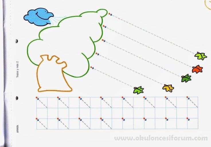 Okul öncesi Basit çizgi çalışmaları Okul öncesi Etkinlikleri