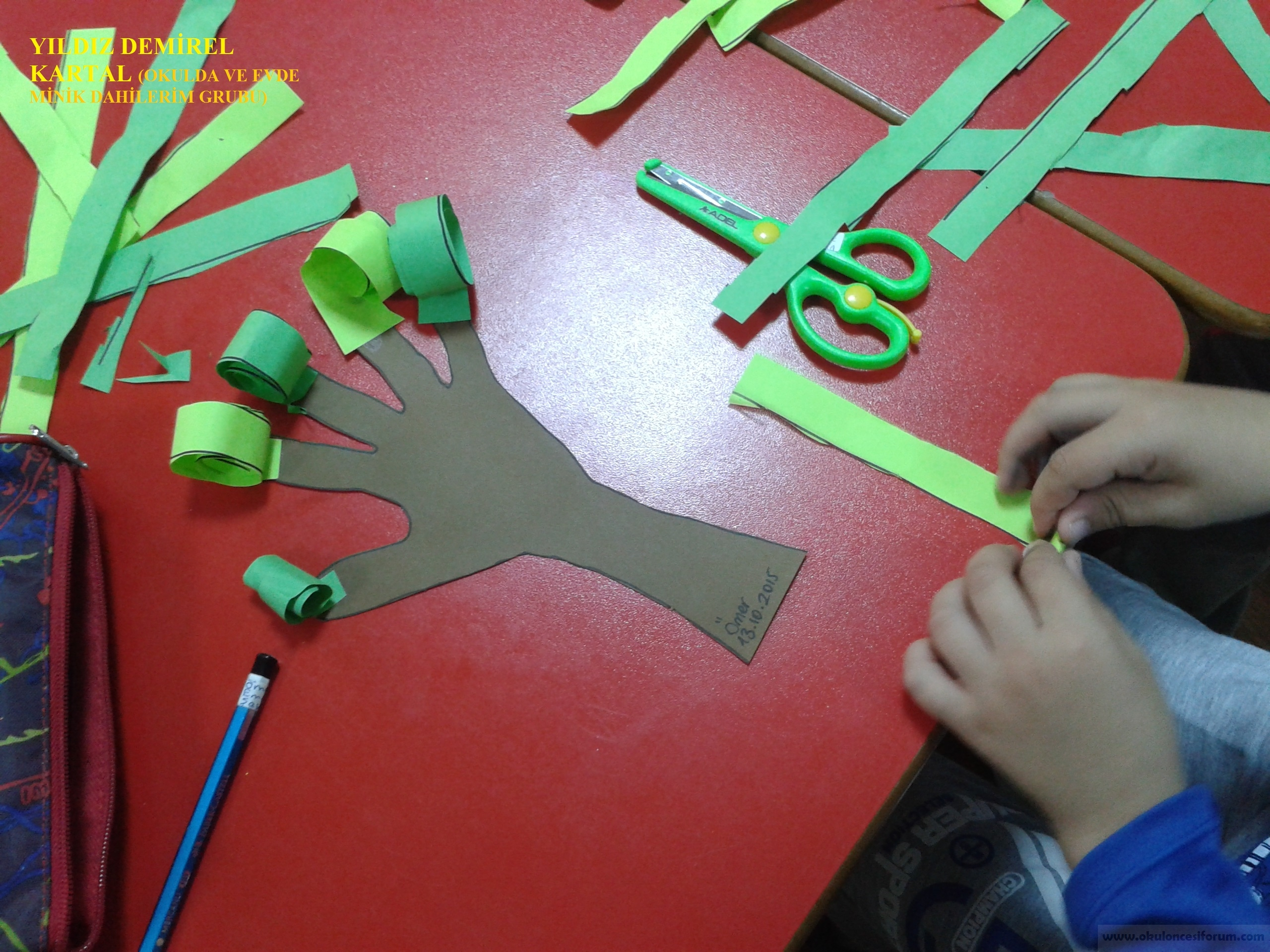Okul öncesi Eğitimde Sınıfta Ilk Kesme çalışmaları Uygulamaları