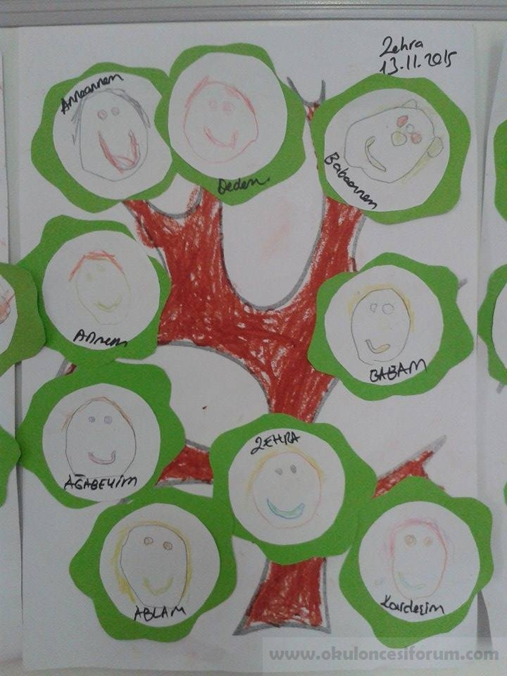 Soy Ağaçlarımız Okul öncesi Etkinlikleri