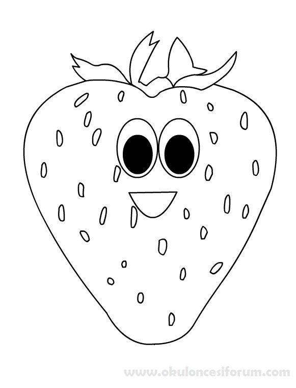 Yerli Malı Haftası Süslemeleri Için şirin Meyveler Okul öncesi