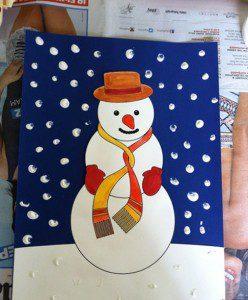 kardan adam yeni yıl kartı