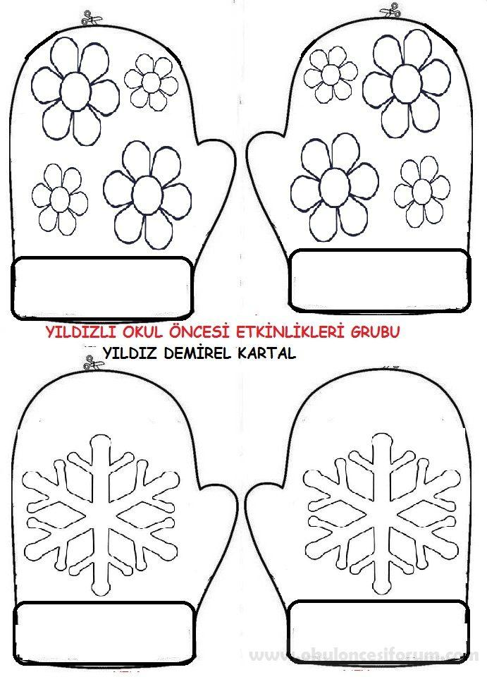 Eldivenden Kalıplı Kar Hikaye Kitabı Etkinliği Okul öncesi