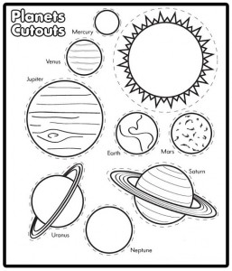 güneş sistemi boyama