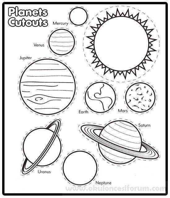 Güneş Sistemi şapkası Okul öncesi Etkinlikleri