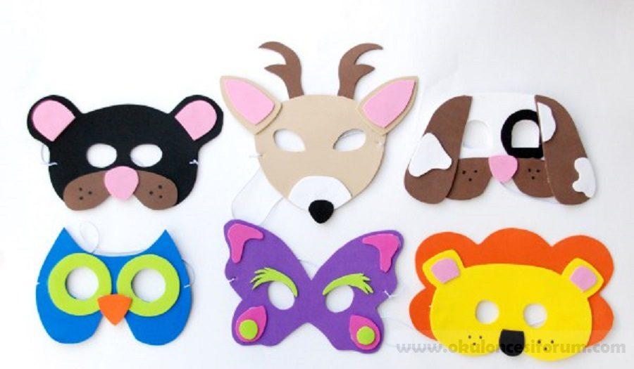 Hayvan Maskeleri Yapalim Kalipli Okul Oncesi Etkinlikleri