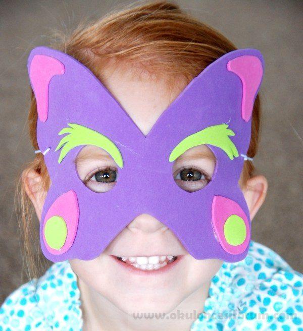Hayvan Maskeleri Yapalım Kalıplı Okul öncesi Etkinlikleri