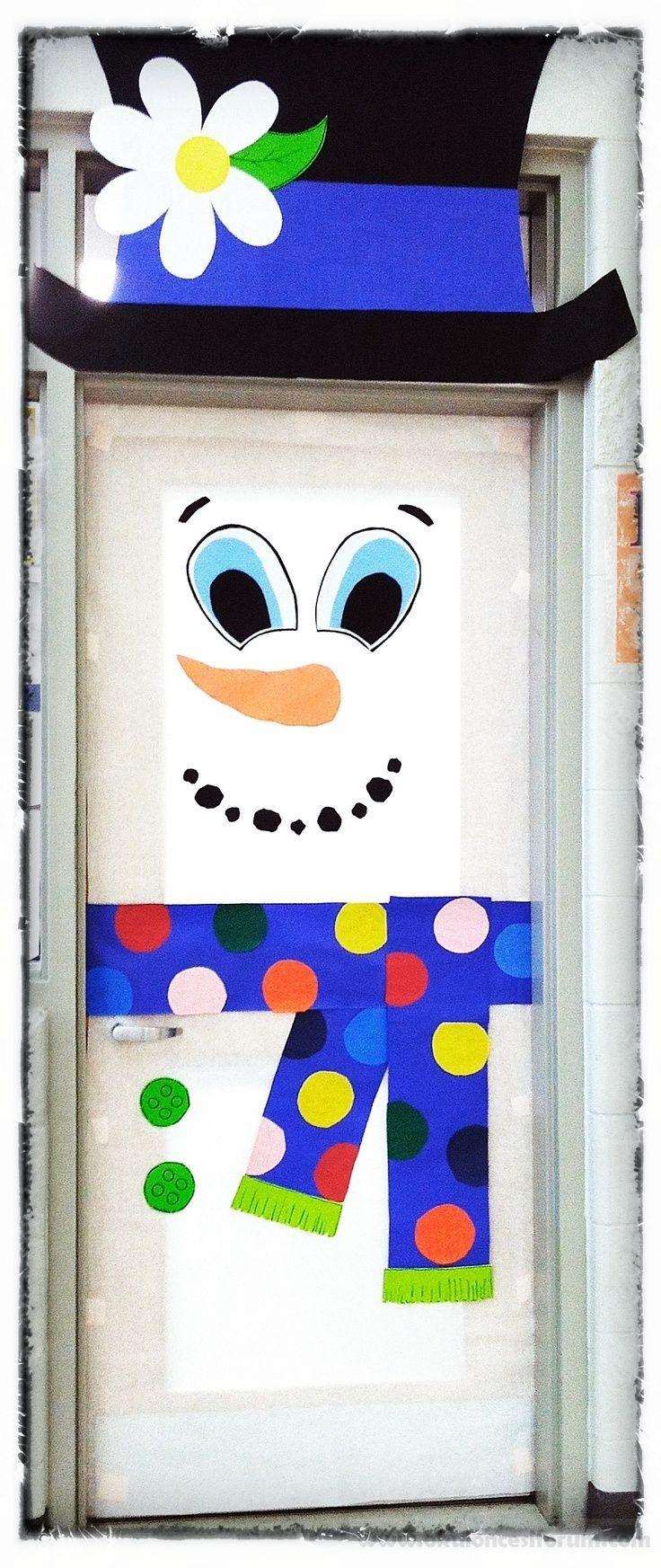 Okul öncesi Eğitimde Kardan Adam Figürlü Kapı Süsleri Okul öncesi