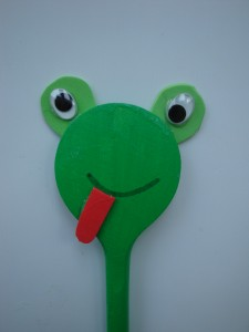 kurbağa kaşık kukla