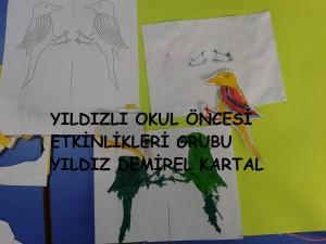 ağaç kakan hareketli ipli oyuncak kuş (2)