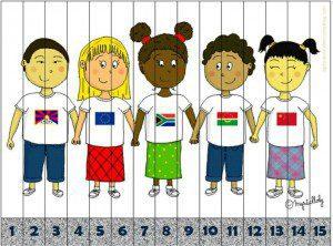 dünya çocukları puzzle