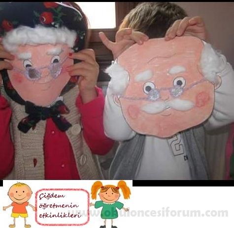 Dede Ve Nine Maskelerimiz Okul Oncesi Etkinlikleri