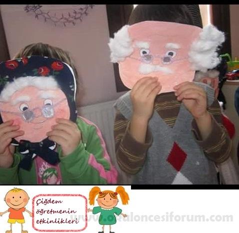 Dede Ve Nine Maskelerimiz Okul öncesi Etkinlikleri