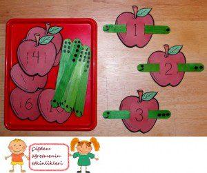 elma kurdu ile sayma oyunu