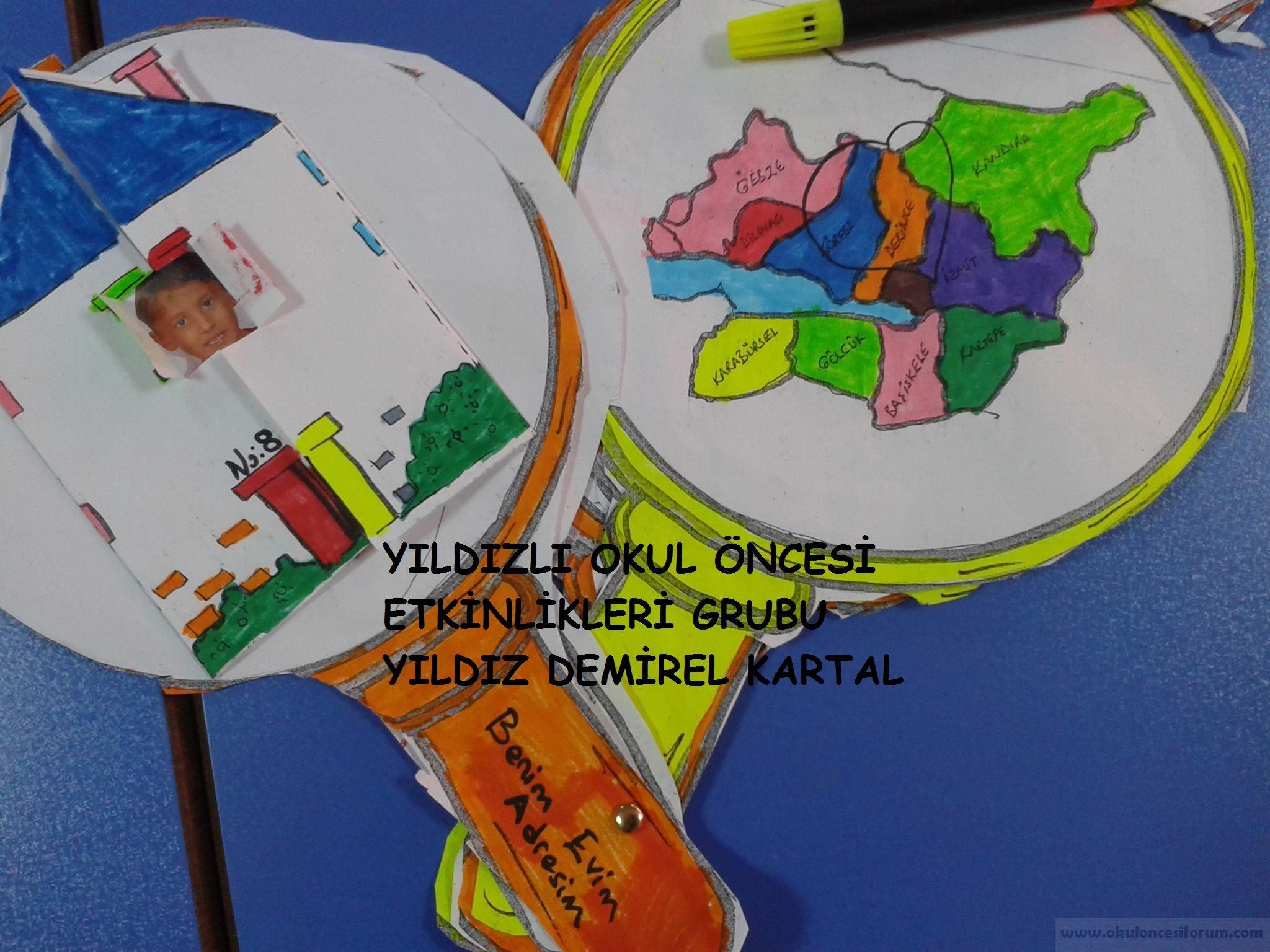 Adresim Evim Ilim Ilçemülkemkıtamgezegenim Projesi Okul öncesi