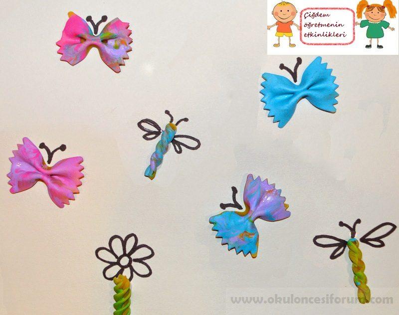 Kelebek Makarnadan Etkinlikler Okul Oncesi Etkinlikleri