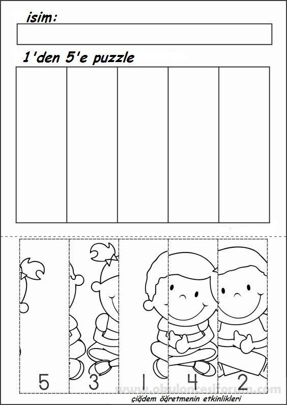 1 Den 5 E Puzzle Yapalim Okul Oncesi Etkinlikleri