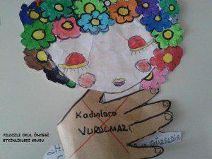 kadınlar günü etkinlik örneği-sanat etkinliği- (6)