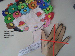 kadınlar günü etkinlik örneği-sanat etkinliği- (7)
