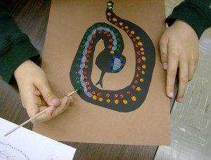 nokta boyama yılan