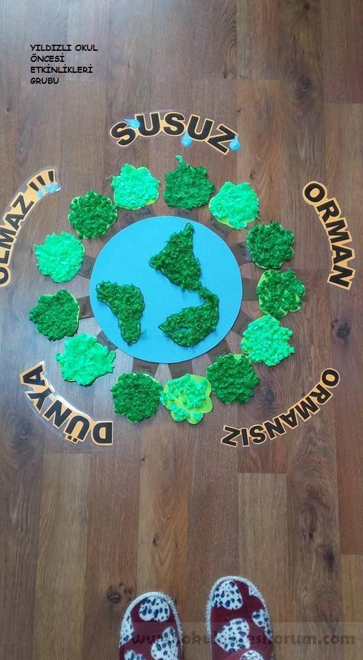 Susuz Orman Ormansız Dünya Olmaz Projesi Okul öncesi Etkinlikleri