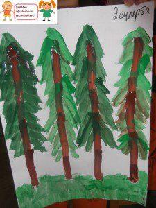parmak boyası orman 1