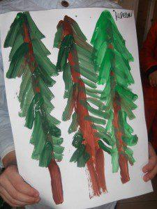parmak boyası orman 10