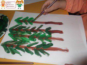 parmak boyası orman 2