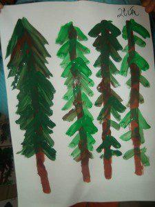 parmak boyası orman 4