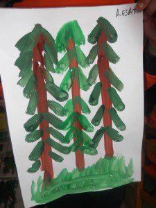 parmak boyası orman 5