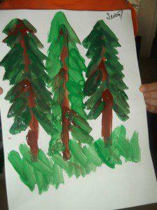 parmak boyası orman 6