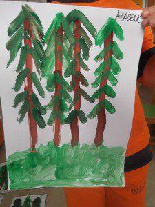 parmak boyası orman 8