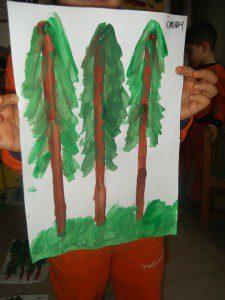 parmak boyası orman 9
