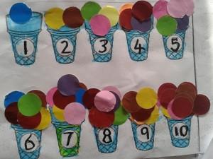 rakam ve dondurma topları eşleştirme etkinliği (3)