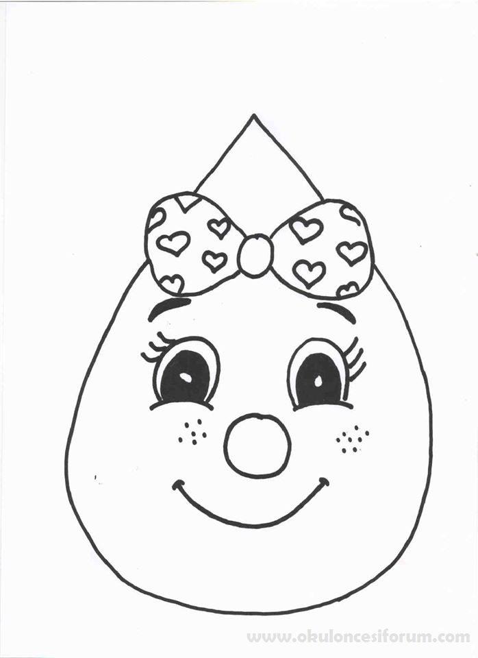 【Yazdırılabilir boyama sayfası!】 Su Damlası Boyama
