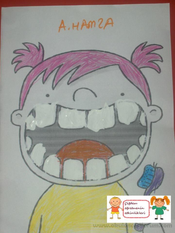 Küçük Kızın Dişleri Bembeyaz Oldu Okul öncesi Etkinlikleri