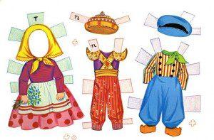 kağıt bebekler 13