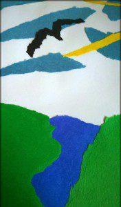 yırtık kağıtla sanat 2