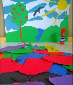 yırtık kağıtla sanat 3