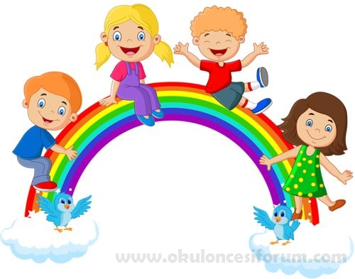 Gökkuşağı Boyama Oyunu Okul öncesi Etkinlikleri